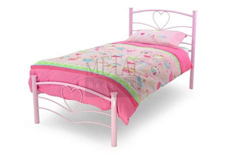 metal beds 3ft 90cm single pink bed frame by metal