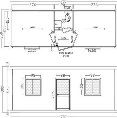 disposizione scrivanie ufficio ufficio 2 stanze wc centrale