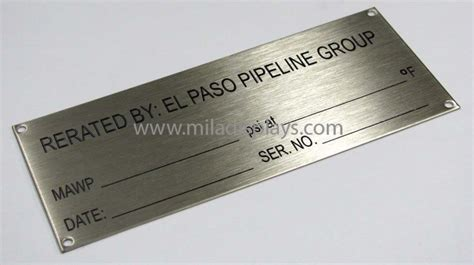 printable metal tags metal nameplates stainless steel nameplates aluminum