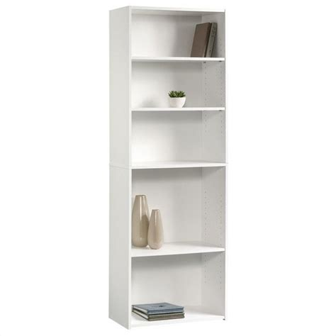 5 shelf bookcase white 5 shelf bookcase in soft white 415542