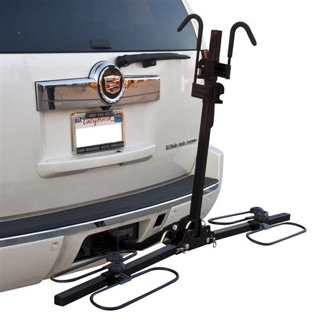 bike rack for car without hitch 2 quot hitch mount carrier platform rack heavy duty 2 bike
