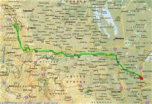 map of alberta canada and montana days 1 6 cleveland to calgary gingerich net