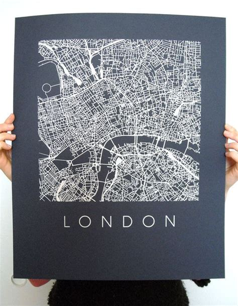 world city map poster map screen print 16x20 various colors map