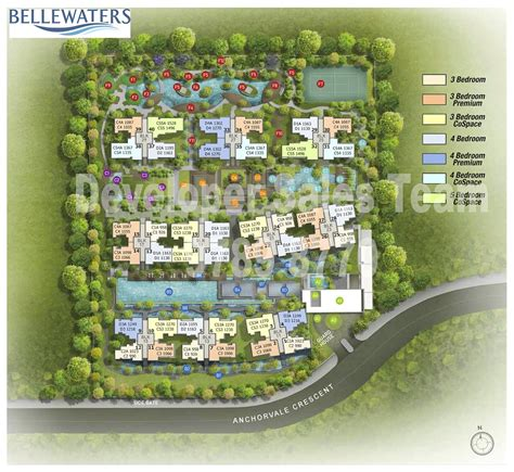 sle site plan bellewaters ec at anchorvale crescent developer sales