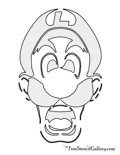 mario brothers pumpkin carving template pumpkin outline printable coloring home