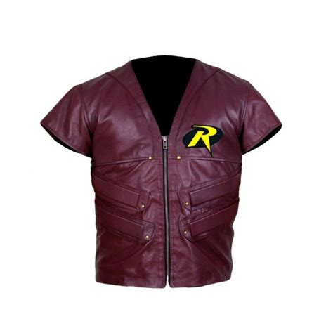 batman arkham city robin leather vest for sale