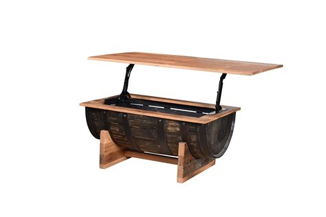 Half Barrel Table by Half Barrel Coffee Table Hardwood Creations