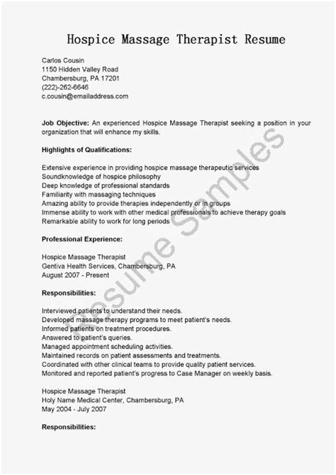 Hospice Resume Great Sle Resume Resume Sles Hospice Therapist Resume Sle