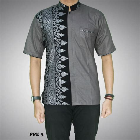 A0683 Kemeja Koko Batik Prada kemeja batik pria kombinasi prada kode ppe 3 batik prasetyo