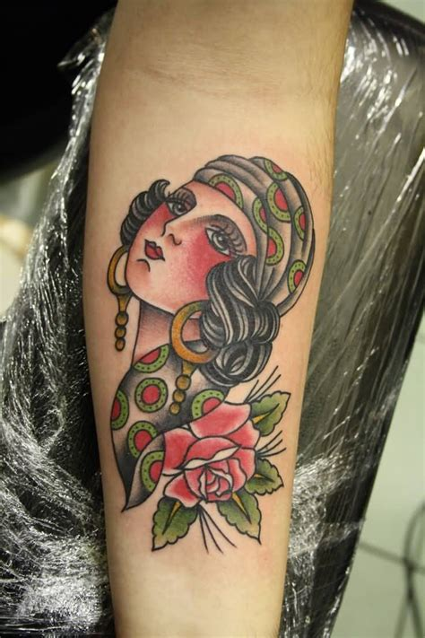 gypsy head tattoo images designs