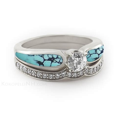 Wedding Rings With Turquoise by Engagement Rings Turquoise Engagement