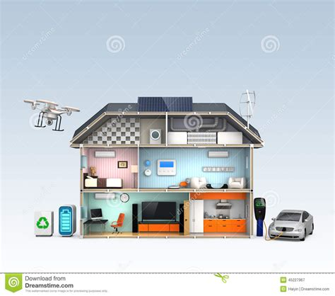 smart house with energy efficient appliances no text