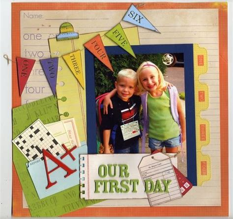 scrapbook layout first day of school 339 best images about scrapbook ideas school on