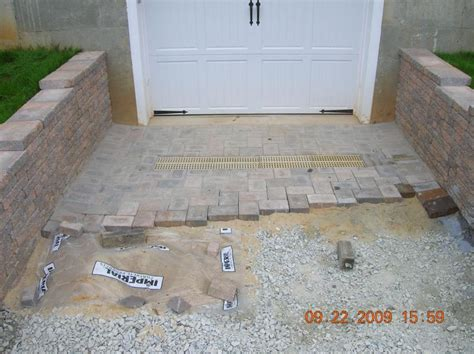 Paver Patio Drainage Andrew Vilcheck Large Retaining Walls Driveways With Drainage