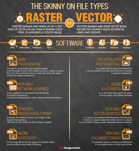 designmantic vector the skinny on file types raster vs vector visual ly