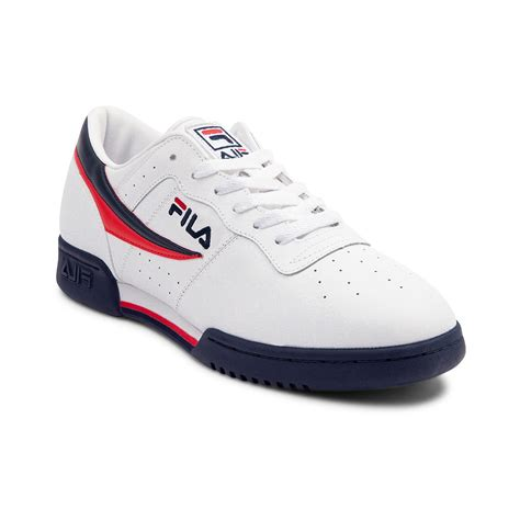 mens fila sneakers mens fila original fitness athletic shoe white 452002