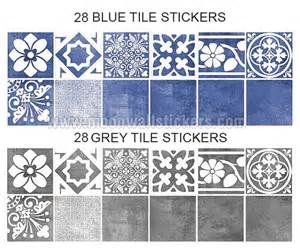 Wall Tile Stickers Vogue Blue Wall Tile Stickers