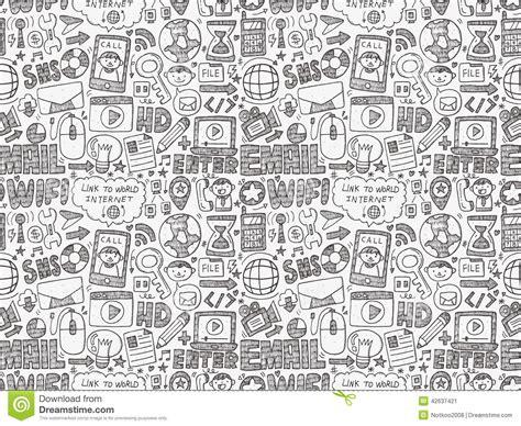 doodle bug website doodle web seamless pattern stock vector image