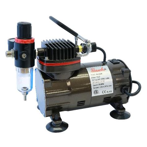 paasche da300r 1 8 hp air compressor touche airbrush