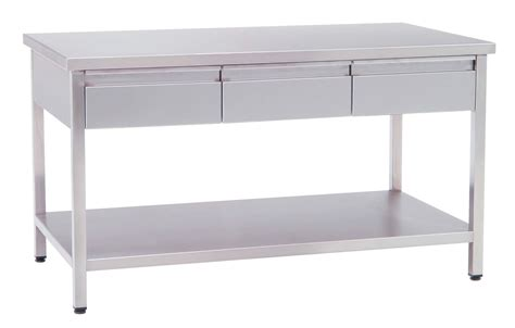 stainless steel table with drawers stainless steel kitchen work tables with drawers kitchen