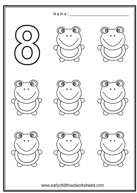 Coloring Page Number 8 by Get This Number 8 Coloring Page 8f785
