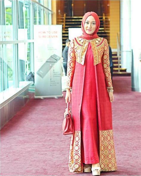 Model Baju Gamis Songket Desain Dian Pelangi Terbaru