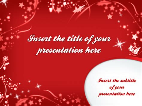 merry christmas template for powerpoint and impress