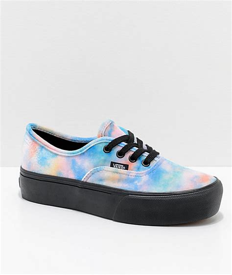 Vans Authentic Tie Dye Color vans tie dye velvet authentic platform 2 0 skate shoes