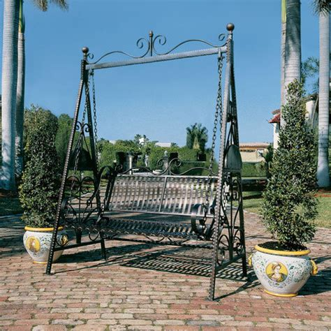 Patio Swing With Stand Design Toscano Rockaway Garden Porch Swing With Stand