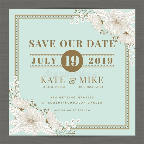vintage save the date card templates save the date wedding invitation card template with