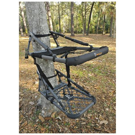 old man climbing deer stands tree stands