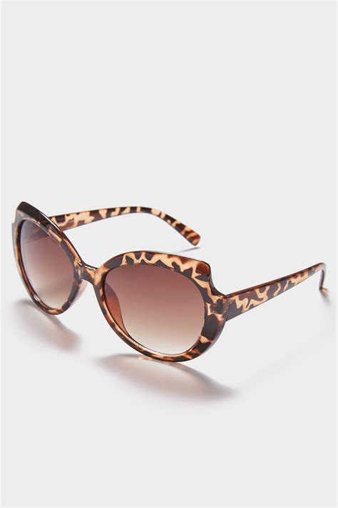 background images in div brown animal print rounded sunglasses with uv 400 protection