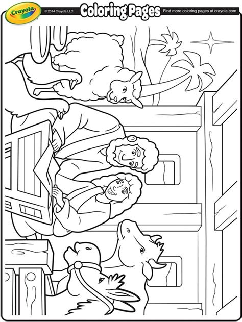 nativity coloring pages nativity manger coloring page crayola