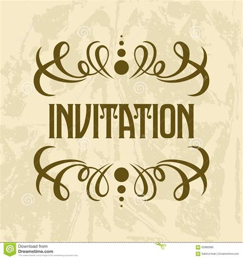 invitation design logos invitation vector template stock vector image 62880980