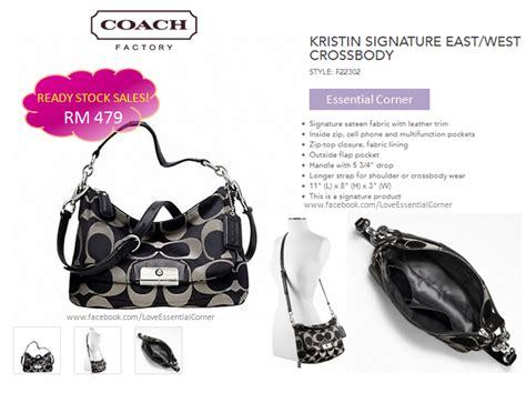 Coach Kristin 2nd Original coach 22302 kristin signature east west crossbody black