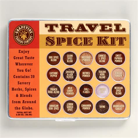 travel spice container travel spice kit world market