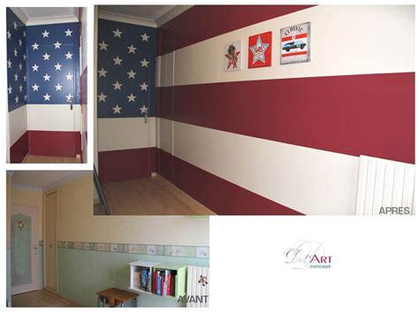 chambre etats unis deco d 233 co chambre drapeau