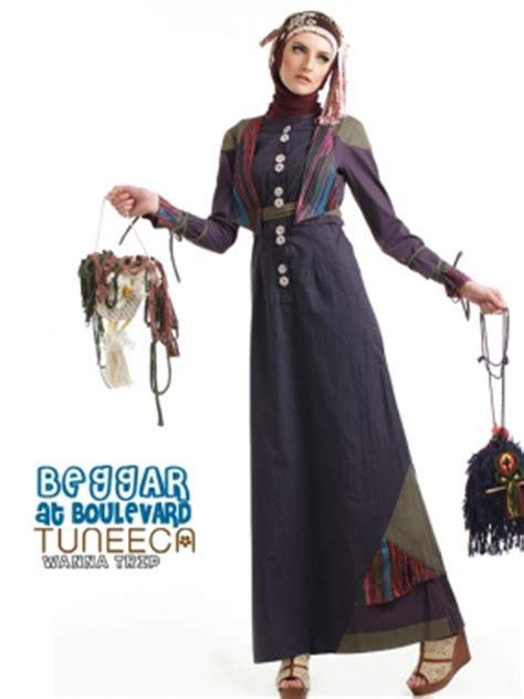 Gamis Muslimah Zilova Gamis 1714 Brown tuneeca 0413027 baju muslim gamis modern