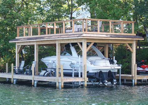 boat house sundeck boathouse roof