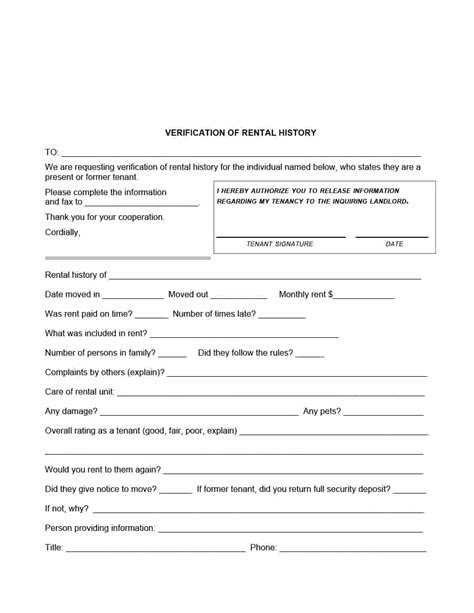 Letter For Rent Proof 29 rental verification forms for landlord or tenant