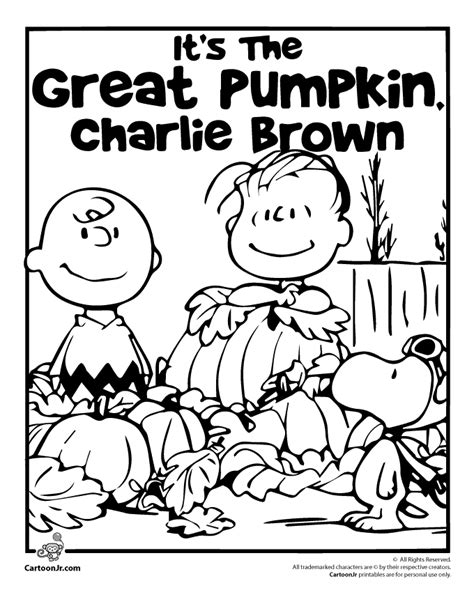 printable peanuts thanksgiving coloring pages it s the great pumpkin charlie brown coloring pages