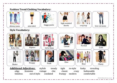 hair style esl fashion vocabulary worksheet free esl printable