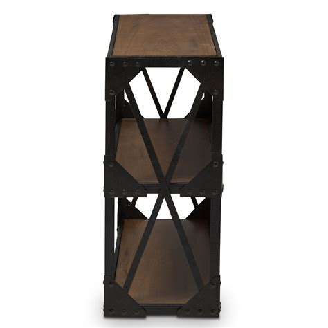 black iron wood console table modern furniture