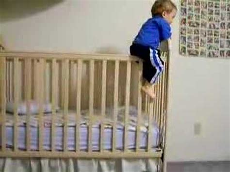 Babies Climbing Out Of Cribs Adam Ernest Climbs Out Of His Crib For The Time