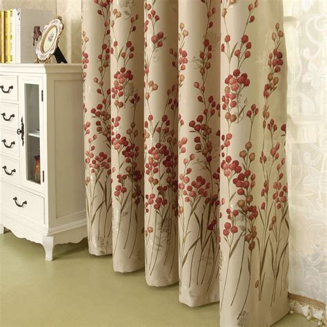 Modern Print Curtains Modern Curtains Light Brown Floral Print Jacquard
