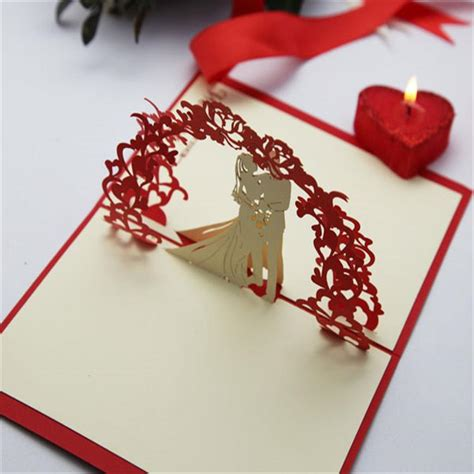 Handmade Wedding Cards Sle - dw f18 sale 3d pop up handmade wedding card design