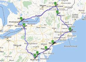canadian east coast road trip map