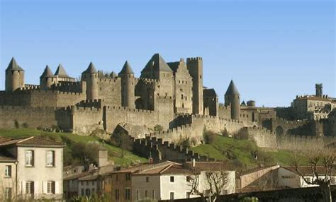 Modern Castle walled cities and towns in france
