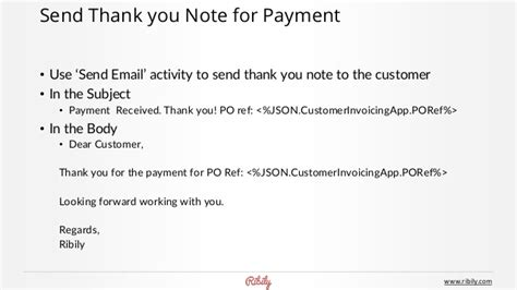 Thank You Letter With Invoice invoicing app on ribily