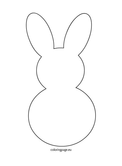 bunny template printable bunny rabbit template crafts easter